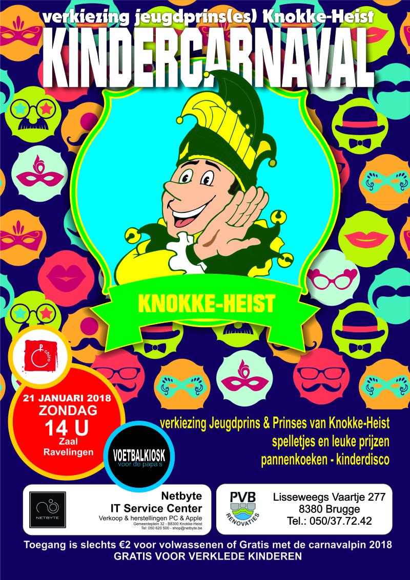 Affiche kindercarnaval 2018