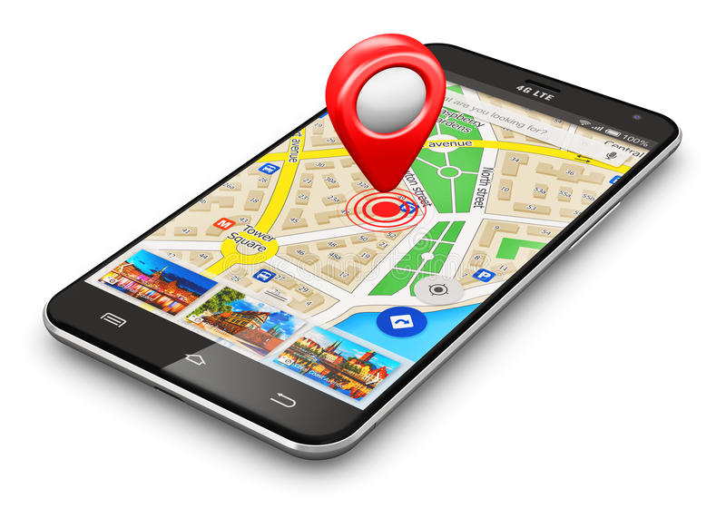 Gps-navigation-concept-creative-abstract-satellite-travel-tourism-location-route-planning-business-modern-black-glossy-48602938